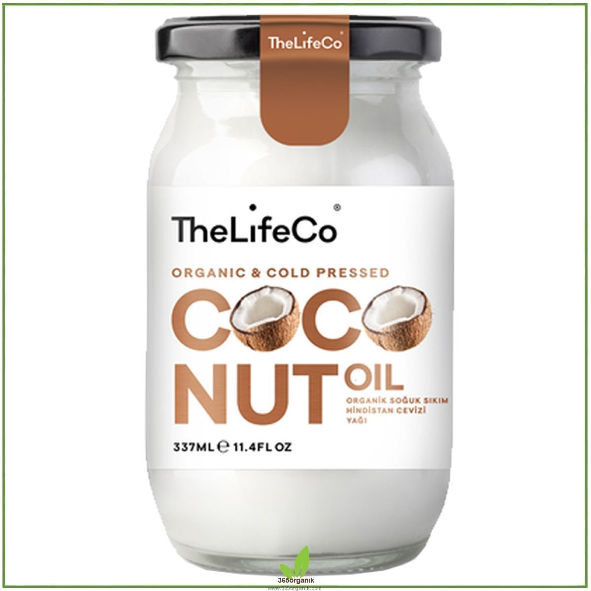 The LifeCo Organik Hindistan Cevizi Yağı - 337 ml